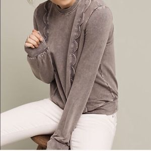 Anthropologie scalloped pullover